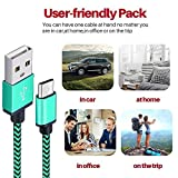 Micro USB Cable Yosou USB Charger Cable[3Pack 1M/3.3ft] Nylon Braided USB Cable High Speed Fast Android Charging Cables for Samsung, Nexus, LG, Motorola, Nokia and More-Blue, Green, Orange Bild 7
