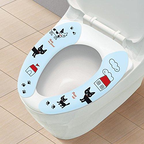 EQLEF® 2 paio igienici lavabile Cuscino cuscino stuoia universale colla-tipo WC WC del coniglio del fumetto & cane