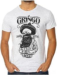 OM3 - HIPSTER el GRINGO - Men's Slim Fit T-Shirt (FITTED!!!) SWAG KUSH BLOGGSTER GEEK