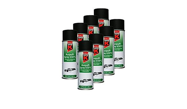 Kwasny 8x 233 099 Auto K Special Auspuff Spray Schwarz 650 C Lackspray 400ml Auto
