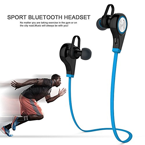 Bluetooth Kopfhörer,elecfan Bluetooth V4.1 Headset in Ear Kopfhörer Sweatproof Sport laufende Earbuds mit Noise Cancelling für All Android Cell Phones, iPhone XS Max