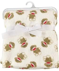 Sock Monkey Plush Baby Blanket, Garden, Haus, Garten, Rasen, Wartung