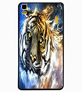 ColourCraft Scary Tiger Look Design Back Case Cover for LENOVO K3 NOTE