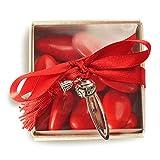 Bomboniera Store - Bomboniera Segnalibro con coccinella Con packaging e con nappina rossa per Laurea, Portafortuna