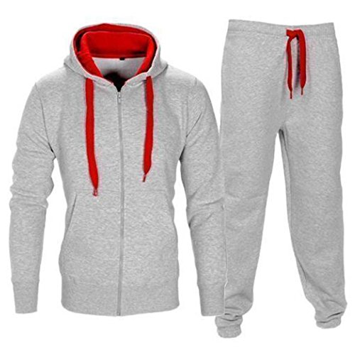 kids-contrast-hoodie-draw-strings-zip-up-pockets-top-trouser-tracksuit-silver-red-11-12-years