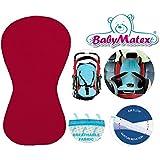 Baby Matex–Asiento para asiento/paddi–de Air Flow–de Universal para portabebés, asiento de coche, por ejemplo para maxi-cosi, Römer, para carrito, Buggy, Trona etc. Burdeos