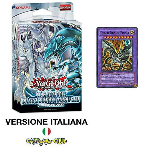 LEONARDO SERVIZI SAS DI Bergamin Catia & C. Konami Yu-Gi-Oh! Saga del Drago Bianco Occhi Blu Unlimited Structure Deck + Carta Cyber Drago Finale