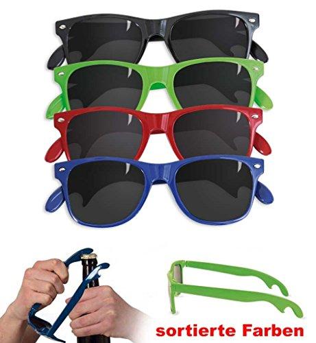 KarnevalsTeufel Party-Brille, Öffner-Brille, Spass-Brille, farblich Sortiert (Schwarz)