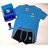 Completo lencería Camiseta Girocollo + Boxer niño Hombre Adulto SSC Napoli  Fútbol Producto Oficial eba1d3f817b9b