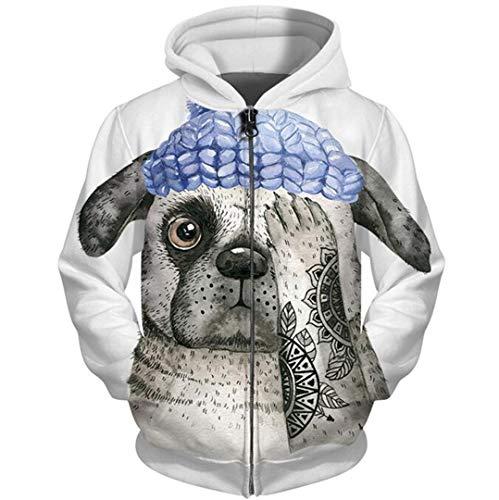 Anime Hoodies 3D Full Print Tier Hund Zipper Sweatshirt Lustige Labrador Corgi Trainingsanzug Reißverschluss Hoody Streetwear 5XL 228 L