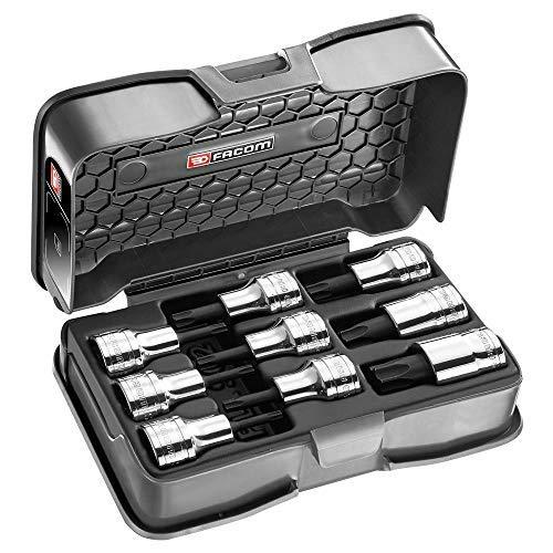 Facom Amex. 3A Steckschlüsselsatz, Torx Schraubendreher 1/2TX20-60, schwarz, 9-teiliges Set