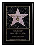 Persönlicher Hollywood Stern im Walk of Fame Stil - Star of Fame Urkunde für Mamas, Papas oder Wunschtext auf spezieller Holzplatte 23 x 30,6 cm, Motiv:Motiv 02
