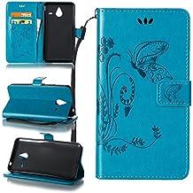 ZeWoo Funda de PU Piel - LD109 / Azul - para Microsoft Lumia 640 XL / Lumia 640 XL Dual-SIM (5,7 pulgadas) carcasas y fundas