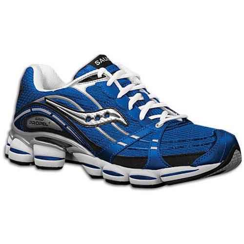 Saucony Womens Triumph 11 Running Shoe,Grey/Purple,9 M US Royal / Black / Silver