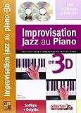 maugain manu improvisation jazz au piano en 3d pf book cd dvd french