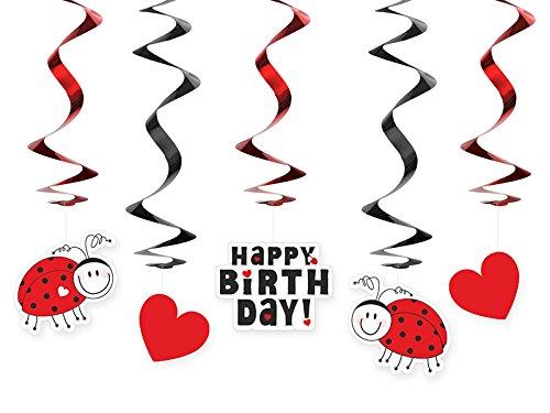 irthday Swirl Händedeko 5 Stück Party-Dekoration Deko mit Palandi® Sticker ()