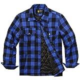 BURLADY Hemd Herren Kariert Innenfutter Winter Holzfällerhemd Thermohemd Hemdjacke Winterjacke Mantel Blau XL