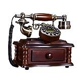 MMM- Retro / Antique / Massivholz / Telefon / Key Dialing / setzen Sie die Papier Box und Anrufer-ID und andere Funktionen, verdrahtete Telefon aus Holz und Messing (Größe: 23 * 16 * 24cm) europäischen Festnetz-Telefon ( Farbe : Backlight version )