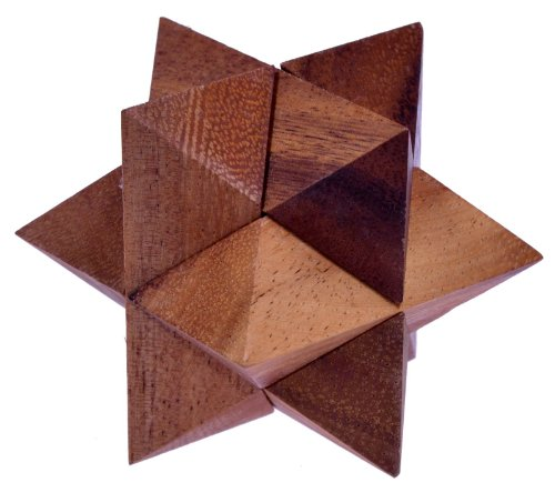 Stern Gr. M - Star - 3D Puzzle - Denkspiel - Knobelspiel - Geduldspiel - Logikspiel aus Holz