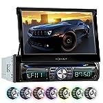 XOMAX XM-DTSB931 autoradio con 18 cm (7 pulgadas) LCD pantalla táctil + Bluetooth dispositivo manos libres y función de reproducción + código libre DVD / CD reproductor + Ranura de extensión por SD – tarjetas y USB conexión + Audio y Vídeo entretenimiento: MP3 WMA MPEG4 AVI + 7 colores de iluminación ajustable: azul, rojo y mucho más + conexión por retrovisor y por subwoofer + Single / solo DIN (DIN 1) medida estándar para el montaje + incluido mando a distancia