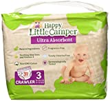 Happy Little Camper Ultra absorbant Premium Naturel couches, taille 3 (7–13 kg), 31 fils