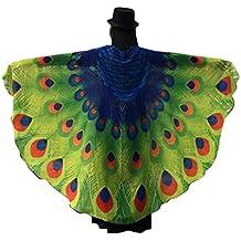 Disfraz de alas de ninfa con diseño de pavo real de Canela, ...