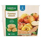 Blédina 4 Coupelles Pommes Biscuit dès 6 mois