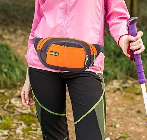 Newstars Fashion sport grande capacità sport all' aperto Borsa da viaggio sacchetto marsupio multiuso marsupio con cerniera borsa da petto regolabile da viaggio sport running escursionismo allenamento J Zipper Bag 6