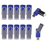 WST® (Bulk 10 Pack) 8GB Swivel USB Flash Drive USB 2.0 Memory Stick (Blue)
