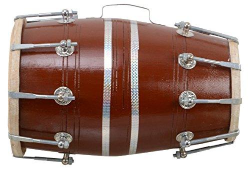 Hölzerner Dholak indischer folkiger Musikinstrument-Trommel-Nuss-n Bolzen mit Abdeckung