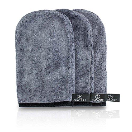 Make-Up Entferner Tuch Handschuh (3er Set) - Mikrofaser Abschminktuch 20x13cm - Abschminken nur mit Wasser - hypoallergenes Gesichtsreinigungstuch