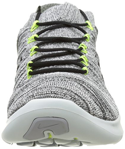 Nike Free Rn Motion Flyknit, Chaussures de Running Entrainement Homme Blanc (White/Black Volt Off White)