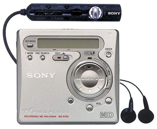 Sony MZ-R700/S tragbarer MiniDisc-Rekorder silber