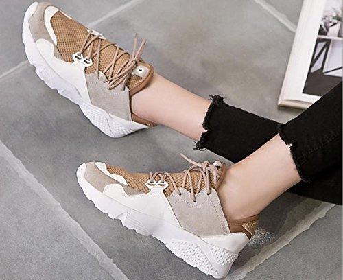 Nouvelles Chaussures De Sport Occasionnels Des Femmes Occasionnelles Chaussures De Course Jaune