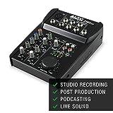 ALTO Professional ZMX52 - Mixer Portatile Professionale 5 Canali con Jack XLR, Alimentazione Phantom, EQ ed Aux in/out