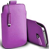 Viola Shelfone–Protezione in pelle con linguetta per Blackberry Curve 8310(L) pennino capacitivo