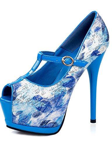 WSS 2016 Chaussures Femme-Décontracté-Bleu / Violet-Talon Aiguille-Talons-Talons-Laine synthétique blue-us6 / eu36 / uk4 / cn36