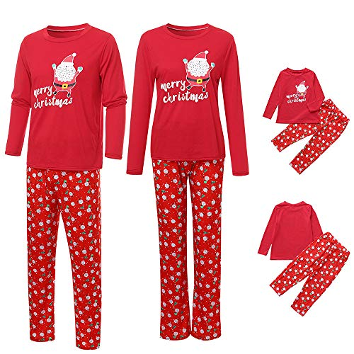 Set di Pigiama Famiglia Di Natale,Costumi Natale Famiglia,Indumenti da Notte Costume Cotone Camicie + Pantaloni Abbigliamento Natale Invernale Primaver per Uomini Donne Bambini (bambini, 2-3 anni)