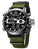 Montre Homme Montre Bracelet Etanche Digitale Analogique Militaire Noir Montre pour...