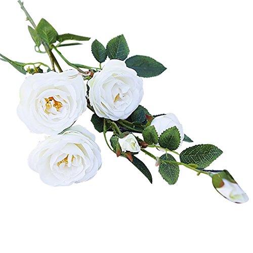 Justdolife Hochzeit Decor Plant Fashion 6 Köpfe Kamelie Blume Gefälschte Pflanze Künstliche Blume für Zuhause Büro