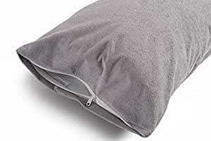 Uppercut 100% Cotton Water Resistant Pillow Protector - Set of 2, Grey