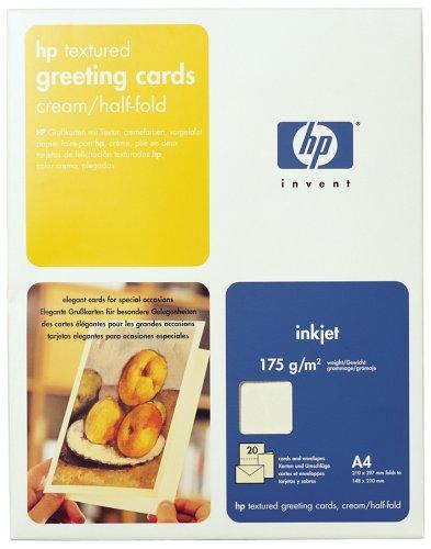 HP C6829A Grußkarten mit Struktur, DIN A4, 175g/m², 20x Grußkarten/Umschläge