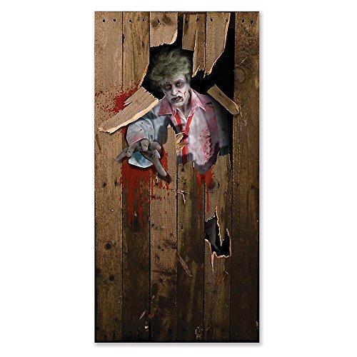 Halloween Door Poster 6ft X 3ft Unisex - 6ft X 3ft (disfraz)