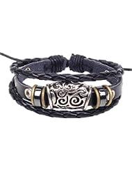 SUYA pulseras,pulsera retro, patrón hueco de cuentas, pulsera creativa, joyería, regalos creativos