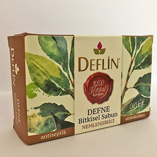 Deflin ✔ Lorbeer & Kräutermischung Seifen - (%100 Natur Shampoo) Antiseptisch - Feuchtigkeits - Antioxidans