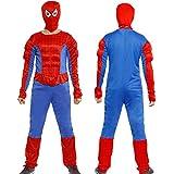 Anladia - Disfraz de Spiderman Cosplay Traje Musculoso con Máscara para Adultos Hombre Talla M