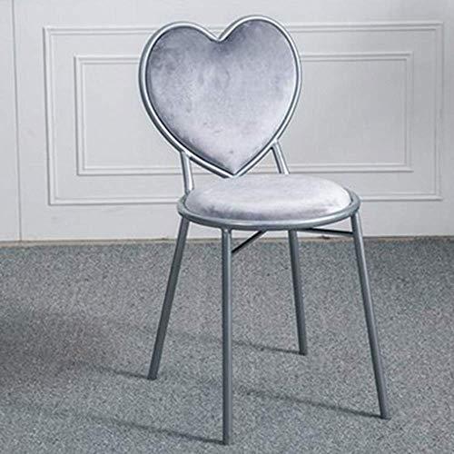 JBDhao Stühle, Europäische Moderne Barhocker Hochhocker Herzförmige