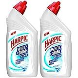 Harpic 'White & Shine Bleach' Disinfectant Toilet Cleaner, Regular - 500 ml (Pack of 2)