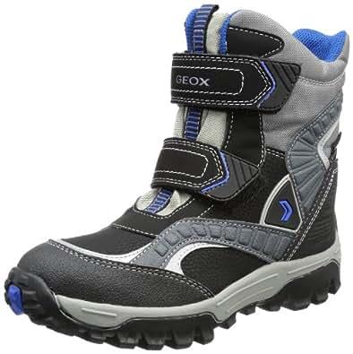 Geox Boys J HIMALAYA WPF B Snow Boots Gray Grau (GREY/ROYAL C0069) Size: 30