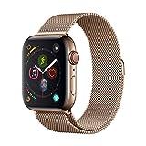 Cinghia di Alluminio Serie milanese Oro per Apple Watch (44mm)